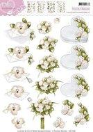 CD10468 3D Knipvel Precious Marieke Romance Flowery gift