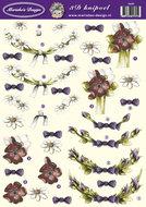 Ma2605 3D knipvel bloemen