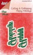 6002-2028 Joy! snijmal Happy Holidays