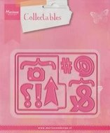 COL1389 Collectables snijmal Pocket card en marks