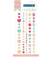 PL4504 - Project NL Adhesive stickers - Pink & Mint
