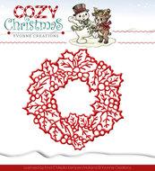 YCD10035 Snijmal Yvonne Creations Cozy Christmas Wreath