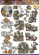 CD10560 3D-knipvel Yvonne Creations Halloween Little Monsters