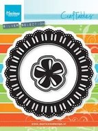 CR1350 Craftables snijmal ribbon doily with rosette
