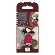 GOR 907310 Mini Rubber Stamp - Santoro - No. 10 Purrrrrrfect Love
