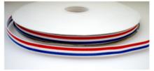 330091 rood wit blauw grosgrain lint 9 mm