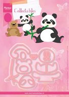 COL1409 Collectables snijmallenset Eline panda and bear
