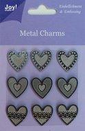 6350-0104 Metal charms Joy! craft hartjes