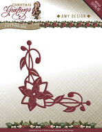 ADD10071 Snijmal Poinsettia Corner Christmas Greetings Amy Design