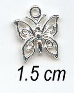 AS185 charms - zilver - vlinder