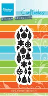 CR1384 Craftables stencil punch die christmas tree ornaments