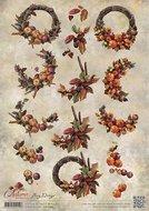 CD10754 3D Knipvel - Amy Design - Autumn Moments - Herfstkransen