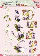 CD10801 3D Knipvel - Precious Marieke - Seasonal Flowers - Felicitatie