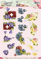 CD10802 3D Knipvel - Precious Marieke - Seasonal Flowers -Beterschap