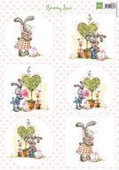 VK9551 Knipvel Bunny Love 1 Marianne Design