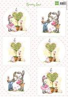 VK9552 Knipvel Bunny Love 2 Marianne Design