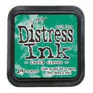 Distress ink pad lucky clover