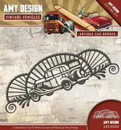 CD10095 Die - Amy Design - Vintage Vehicles - Antique car border