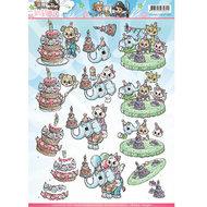 CD10825 - HJ14301 Knipvel Yvonne Creations Tots and Toddlers verjaardag