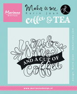KJ1709 Clear Stamp quote - you and me and a cup of coffee