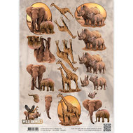 CD10868-HJ14601 3D Knipvel - Amy Design - Wild Animals - Big Five 2