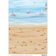 BGS10032 Achtergrondpapier Amy Design Maritime strand