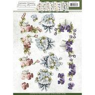 CD10856 3D Knipvel - Precious Marieke - Fantastic Flowers - Violets
