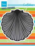 CR1411 Craftables stencil seashell XL