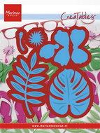 LR0478 Creatables snijmallen Hibiscus & tropical leaves
