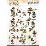 CD10905 3D Knipvel - Precious Marieke - The Nature of Christmas - Christmas Lantern