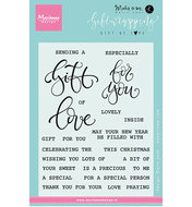 KJ1718 Clear stamps Giftwrapping -Gift of love