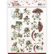 CD10942 3D Knipvel - Precious Marieke - Joyful Christmas - Snowman