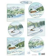 Knipvel Tiny's winter landschapjes 1