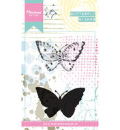 MM1614 Cling stamp Tiny's butterfly 2