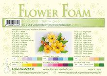 Flower foam sheets a4 yellow green