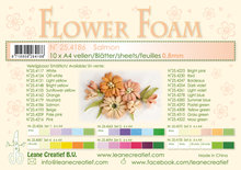 Flower foam sheets a4 Salmon