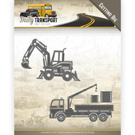 Snijmallen Amy Design Construction Vehicles - Daily Transport