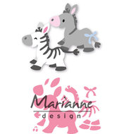 COL1447 Collectables snijmallen Eline's zebra & donkey