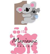COL1448 Collectables snijmallen Eline's koala en baby
