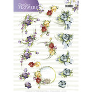 CD11083 3D Knipvel Precious Marieke Timeless Flowers - Violets