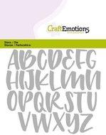 115633-0426 CraftEmotions Die - alfabet handlettering hoofdletters Card 11x9cm