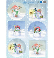 HK1705 Knipvel Hetty's snowmen