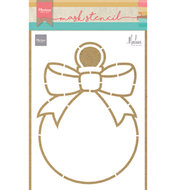 PS8017 Craft stencils Christmas baulb by Marleen