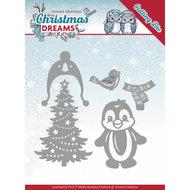 YCD10144 Snijmal Yvonne Creations Christmas Dreams -  Penguin