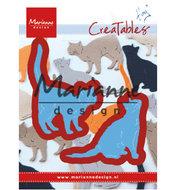 LR0591 Creatables snijmallen Tiny's cats