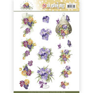 SB10355 3D Pushout Precious Marieke Blooming Summer - Pansies